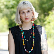 Load image into Gallery viewer, Kantha Kaleidoscope Necklace - Cause-ology