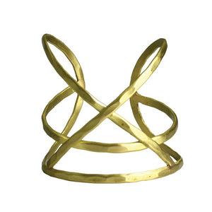 Tribal Fresh - Linear X Cuff Bracelet - Gold - Cause-ology