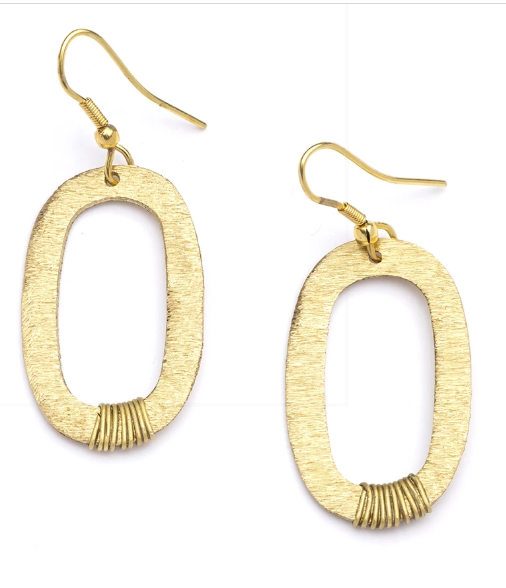 Gold Link Earrings - Cause-ology
