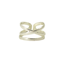 Load image into Gallery viewer, Linear X Ring -Silver - Cause-ology