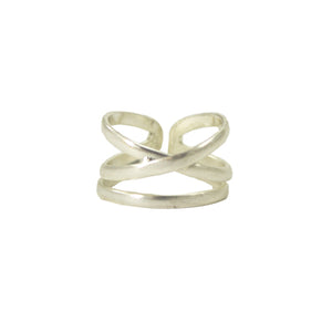 Linear X Ring -Silver - Cause-ology
