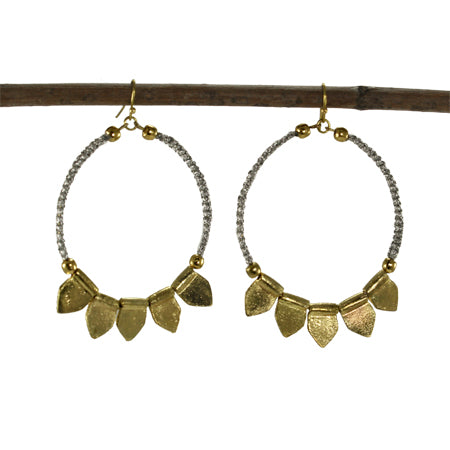 Tribal Fresh - Shimmer Hoop Earrings - Cause-ology
