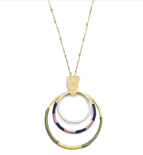 Threaded Hoop Necklace - Cause-ology