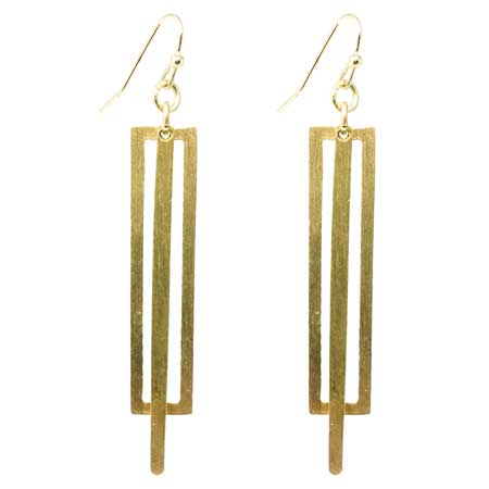 Tribal Fresh - Pierced Rectangle Earrings - Cause-ology