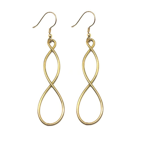 Double Helix Gold Earrings - Cause-ology