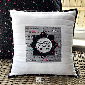 Quilted Pillow with Binding
