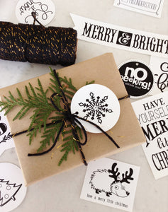 Holiday Gift Tags and a FREE Printable