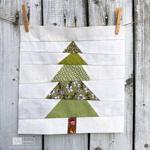 Lone Pine Tree FPP Quilt Block Pattern