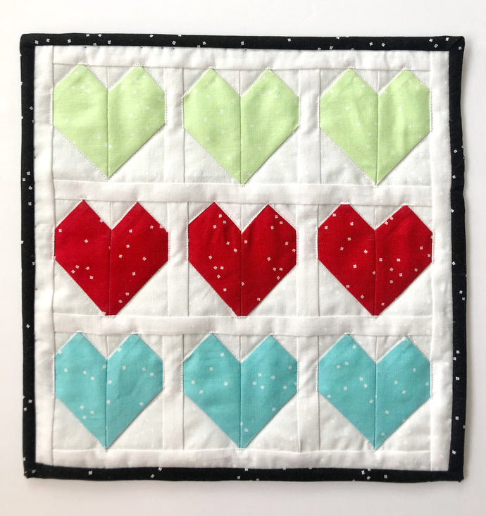 Hearts Mini Quilt with Blossom Basics