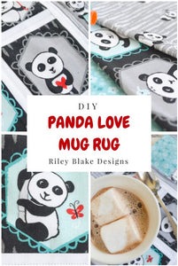 Panda Love Mug Rug Tutorial