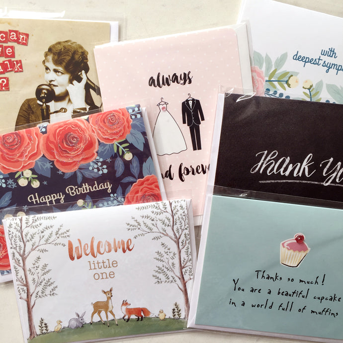 You Pick 6 Greeting Cards - FREE SHIPPING - CAN$