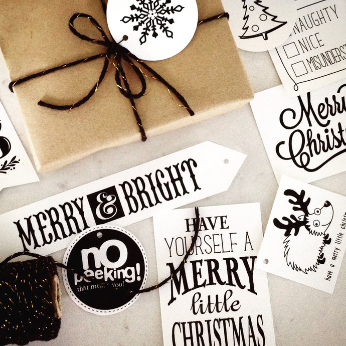 Holiday Gift Tags Printable - CAN$
