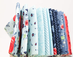 100% cotton fabric, quilting fabric, fat quarter bundle