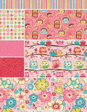 Owl Fabric, Fat Quarter Bundle