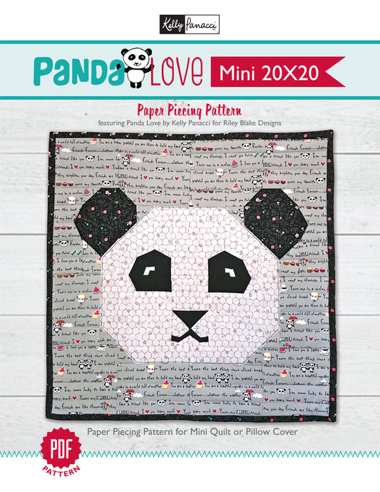 Panda Love Mini Quilt Pattern
