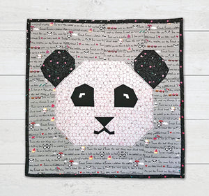 Panda Love Mini Quilt or Pillow Cover Fabric Kit (Fabric Only) - CAN$