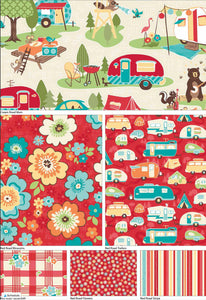 100% Cotton Fabric, Quilting fabric, Camping Fabric