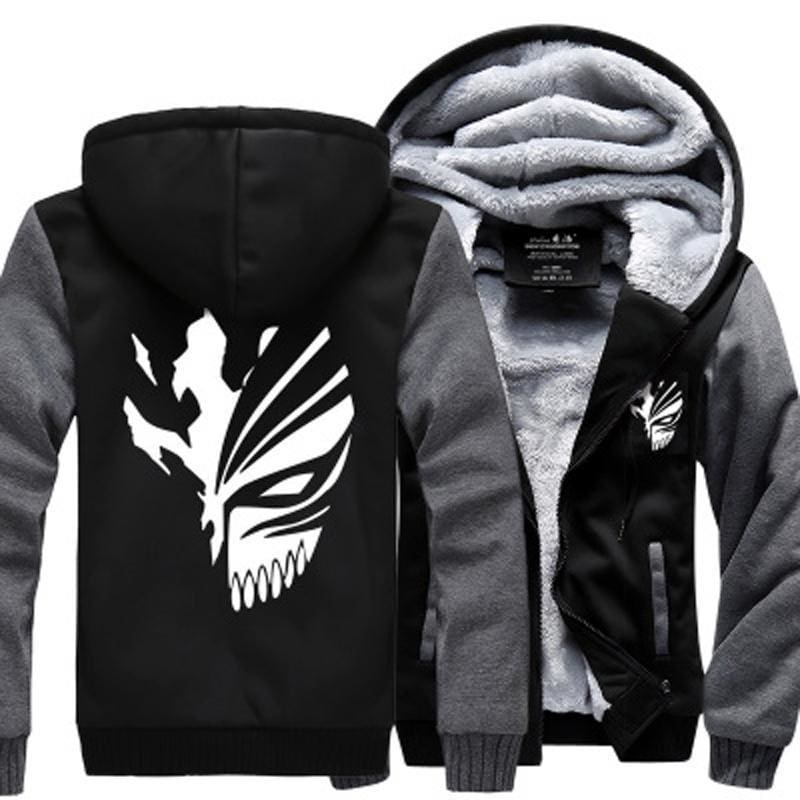 Anime Jackets - Black and White Ichigo Kurosaki Logo - Bleach Clothing
