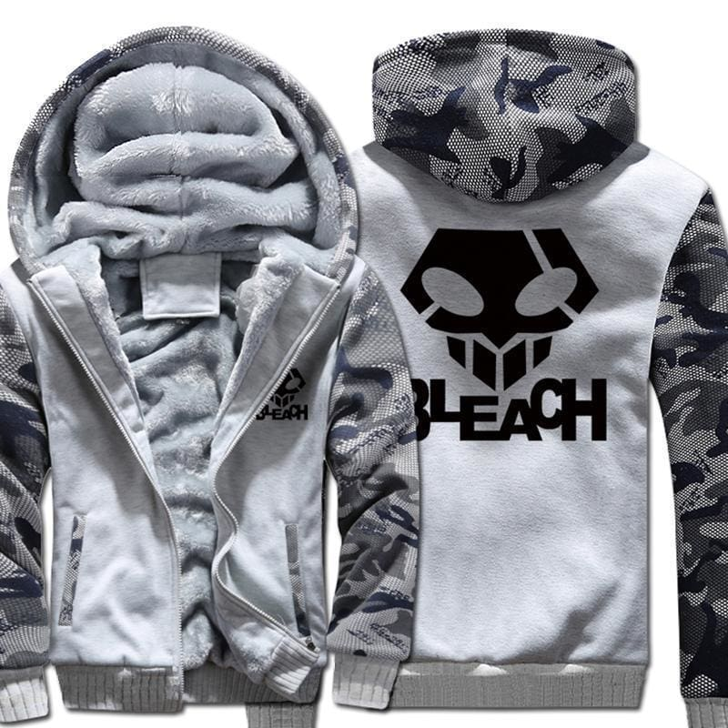 Bleach Jackets - Camo With Skull Logo - Anime Clothing