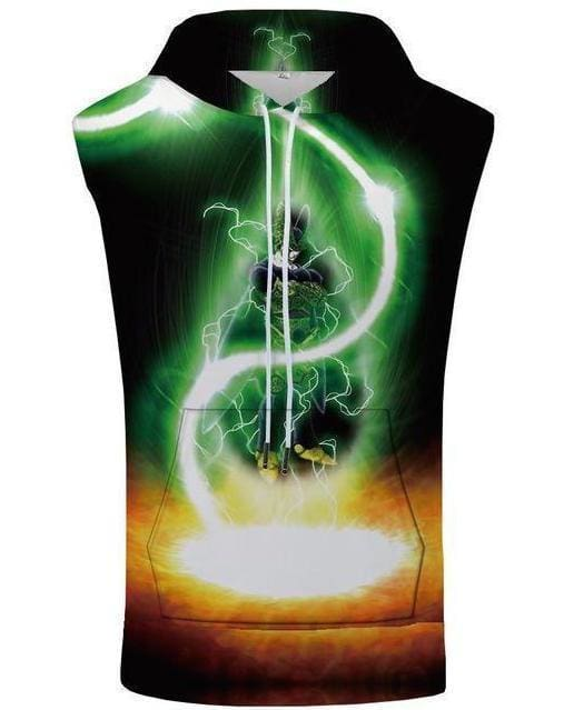 Dragon Ball Super - Bolt Hooded Tank Top - Anime Clothing