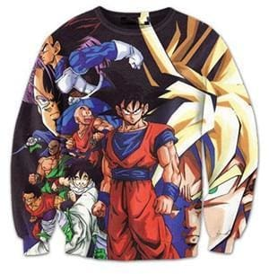 Dragon Ball Super - Goku and Characters Jumper - Dragon Ball Z Sweatshirts