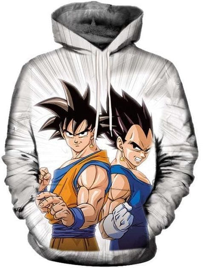 Dragon Ball Super - Goku and Vegeta - Dragon Ball Z Hoodies