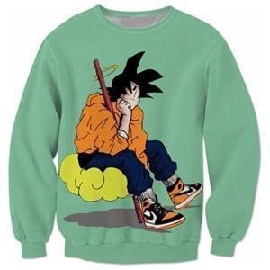 Dragon Ball Super - Goku Sitting Down - Dragon Ball Z Sweatshirts