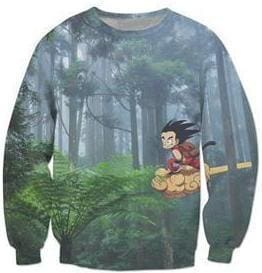 Dragon Ball Super - Kid Goku and Forest - Dragon Ball Z Sweatshirts