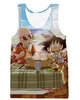 Dragon Ball Super - Kid Goku and Master Roshi Tank Top - Anime Clothes