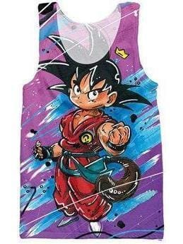 Dragon Ball Super - Kid Goku Fist Tank Top - Anime Clothes