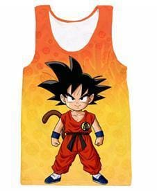 Dragon Ball Super - Kid Goku Stance Tank Top - Anime Clothes