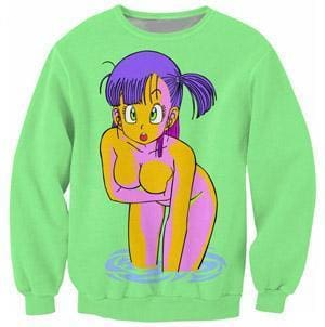 Dragon Ball Super - Sexy Bulma Green Jumper - Dragon Ball Z Sweatshirts