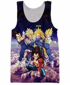 Dragon Ball Super - Vegeta Saiyan Tank Top - Anime Clothes