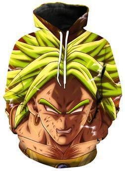 Dragon Ball Z Hoodies - Broly Rage - DBZ Hoodies