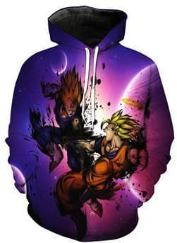 Dragon Ball Z Hoodies - Super Saiyan Fight - DBZ Hoodies