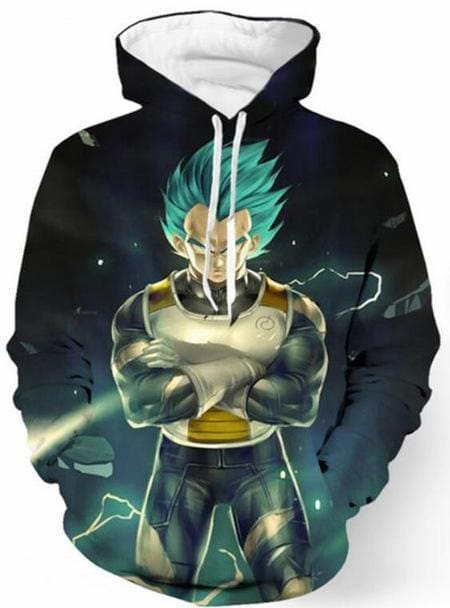 Dragon Ball Z Hoodies - Vegeta Stance - DBZ Hoodies