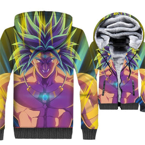 Dragon Ball Z Jacket - Broly 3D Fleece Jacket - Anime Clothes