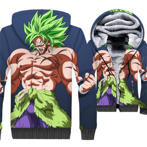 Dragon Ball Z Jacket - Broly Fleece Jacket - Anime Clothes