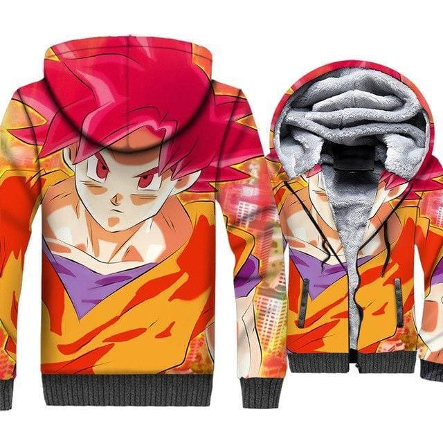Dragon Ball Z Jacket - Goku 3D Fleece Jacket - Anime Clothes