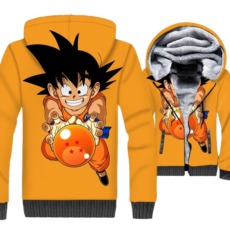Dragon Ball Z Jacket - Kid Goku Fleece Jacket - Anime Clothes