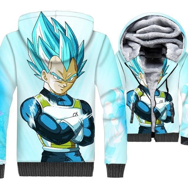 Dragon Ball Z Jacket - Vegeta Fleece Jacket - Anime Clothes