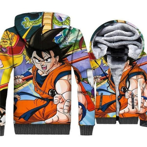 Dragon Ball Z Jacket - Young Goku Fleece Jacket - Anime Clothes