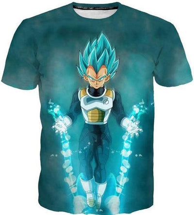 Dragon Ball Z - Vegeta Charge - Dbz Shirts