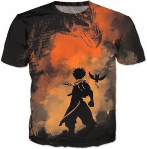 Fairy Tail Shirts - Natsu Dragneel Shadow - Anime Clothes