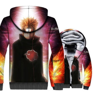 Naruto Clothing - 3D Akatsuki Fleece Jacket - Anime Clothes