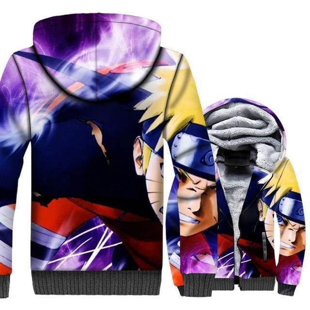Naruto Clothing - 3D Anime Fleece Jacket - Anime Clothes