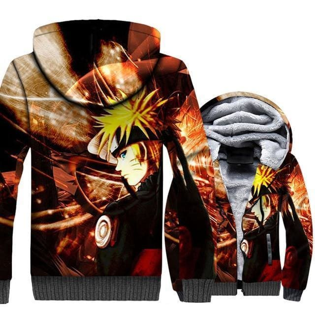 Naruto Clothing - 3D Uzumaki Fleece Jacket - Anime Clothes