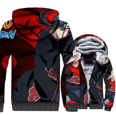 Naruto Clothing - Akatsuki Fleece Jacket - Anime Clothes