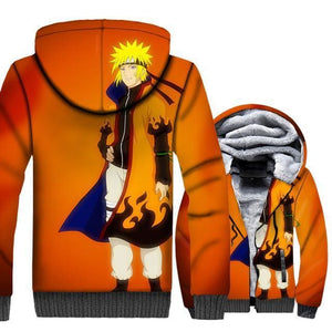 Naruto Clothing - Anime Fleece Jacket - Anime Clothes