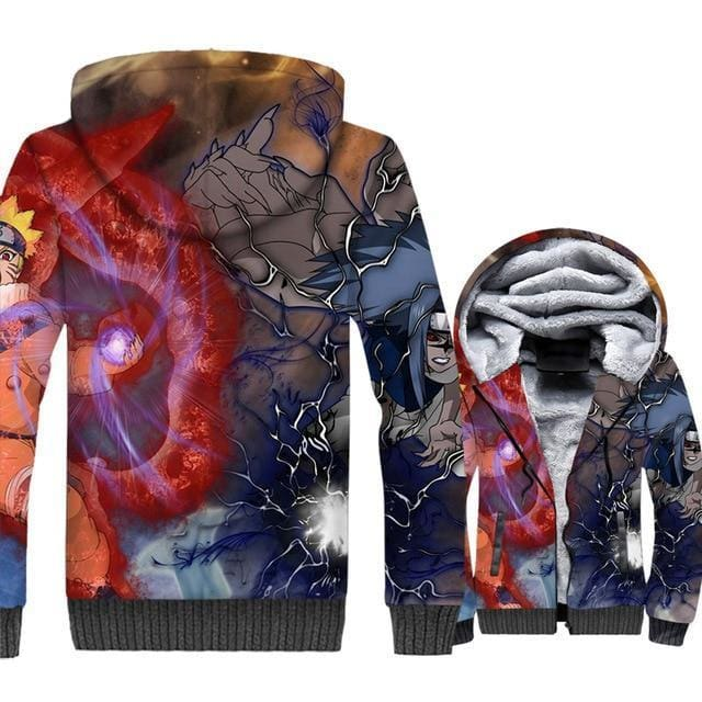 Naruto Clothing - Attack Fleece Jacket - Anime Clothes